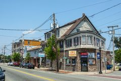 Het centrum van de Stoughtonstad, Massachusetts, de V.S. royalty-vrije stock fotografie