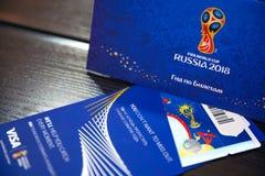 Het Centrum van de het Trefpuntetikettering van FIFA, Moskou, Rusland - April 2018 Royalty-vrije Stock Foto