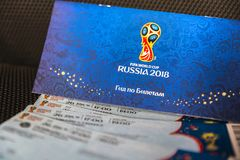 Het Centrum van de het Trefpuntetikettering van FIFA, Moskou, Rusland - April 2018 Royalty-vrije Stock Afbeelding