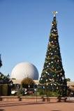 Het Centrum van Disney Epcot op de Dag van Kerstmis Stock Foto