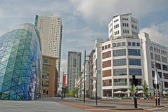 Het Centrum van Eindhoven - Lichte Toren, Vlek, Admirant Stock Afbeeldingen