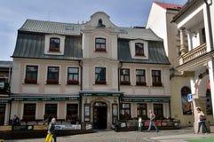 Het centrum van het art decohuis van Liberec Stock Foto's