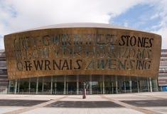 Het Centrum van het millennium, Cardiff stock foto