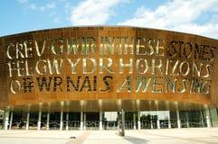 Het Centrum van het Millennium van Wales stock foto's