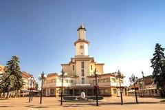 Het centrum van ivano-Frankivsk stad, de Oekraïne, in de zomer van 2016 E Royalty-vrije Stock Afbeelding