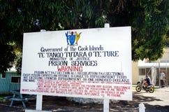Het Centrum van kokisland prison rehabilitation in Rarotonga Cook Islan stock foto's