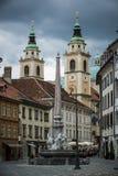 Het centrum van Ljubljana Stock Fotografie