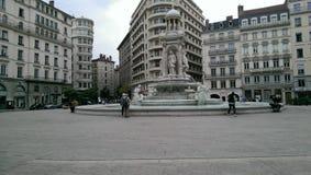 Het centrum van Lyon Stock Afbeeldingen