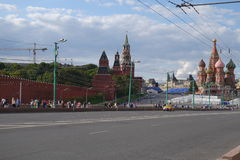 Het Centrum van Moskou Royalty-vrije Stock Foto's