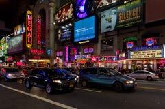 Het centrum van New York bij nacht Royalty-vrije Stock Afbeelding