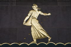 Het Centrum van Rockefeller bij nacht Royalty-vrije Stock Foto