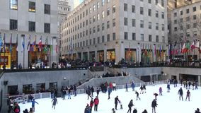 Het centrum van Rockefeller in New York stad stock footage