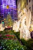 Het Centrum van Rockefeller van de boommening stock fotografie