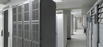 Het centrum van servers Stock Fotografie