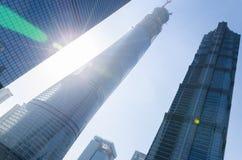Het centrum van Shanghai en jinmaotoren Royalty-vrije Stock Afbeeldingen