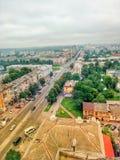Het Centrum van straatchernigiv bouwt Verhaal stock foto's