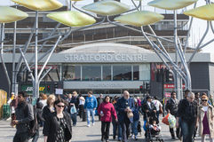 Het Centrum van Stratford in Londen Stock Fotografie