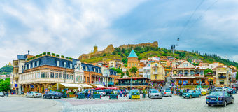 Het centrum van Tbilisi Royalty-vrije Stock Foto's