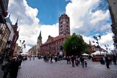 Het centrum van Torun, Polen Stock Foto