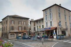 Het centrum van Varilhes, Frankrijk Royalty-vrije Stock Afbeeldingen