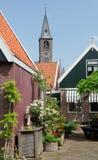 Het centrum van Volendam, terras Stock Fotografie