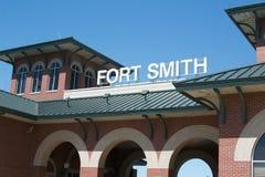 Het Centrumfort Smith, Arkansas van het Riverfrontpark Stock Foto's