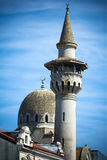 Het centrummoskee van de Constantastad op de kust van de Zwarte Zee van Roemenië Royalty-vrije Stock Afbeeldingen