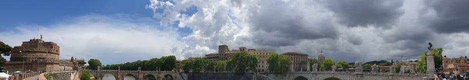 Het Centrumpanorama van Rome stock afbeeldingen