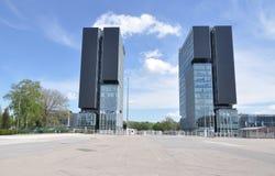 Het centrumtorens van de tentoonstelling Stock Afbeeldingen