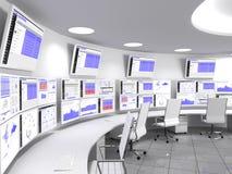 Het Centrumwit van netwerkverrichtingen Stock Afbeeldingen