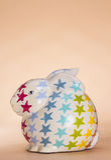 Het ceramische konijn van stervlekken Royalty-vrije Stock Foto's