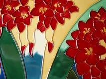 Het ceramische verglaasde schilderen Royalty-vrije Stock Afbeeldingen