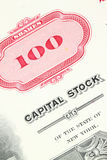 Het certificaat van de voorraad Royalty-vrije Stock Foto