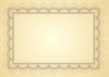Het certificaat van het diploma Royalty-vrije Stock Afbeelding