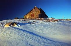 Het Chalet van de berg stock fotografie