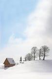 Het chalet van de berg in de winter Royalty-vrije Stock Afbeeldingen