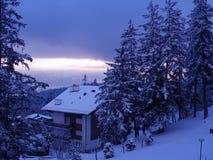 Het chalet van de ski royalty-vrije stock foto