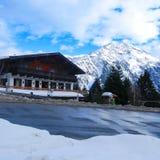 Het chalet van de ski Stock Foto's