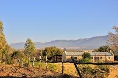 Het Chalet van het berglandbouwbedrijf Stock Foto's