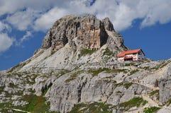 Het chalet van Locatelli, de Bergen van het Dolomiet Royalty-vrije Stock Fotografie
