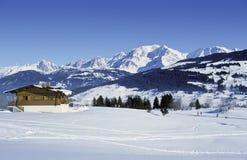 Het chalet van Mont Blanc stock foto