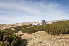 Het Chalet van Piatraarsa, Bucegi-Plateau, Roemenië stock fotografie