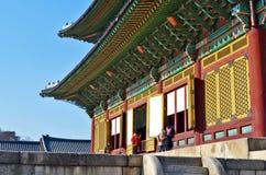 Het Changdeokgungpaleis is het meestbewaard van koninklijke Joseon-paleizen royalty-vrije stock fotografie