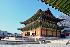 Het Changdeokgungpaleis is het meestbewaard van koninklijke Joseon-paleizen Stock Foto's