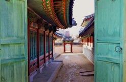 Het Changdeokgungpaleis is het meestbewaard van koninklijke Joseon-paleizen Stock Fotografie