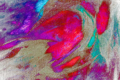het chaotische schilderen door olie op canvas Stock Fotografie
