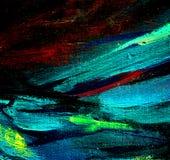 het chaotische schilderen door olie op canvas, illustratie Stock Foto's