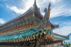 Het charmante de zomerlandschap van Wudang-Berg in China royalty-vrije stock fotografie