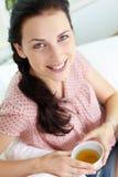 Het charmeren brunette Stock Foto's
