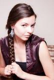 Het charmeren van jonge vrouw Royalty-vrije Stock Foto's